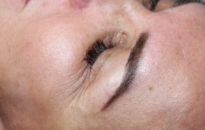 permanent eyebrows close up