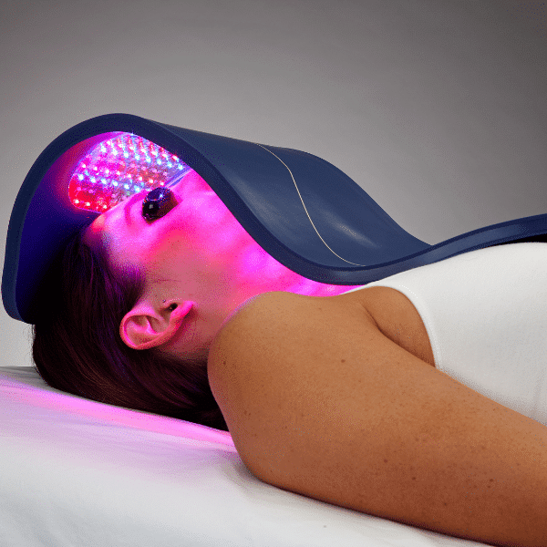 LED light therapy facial treatment