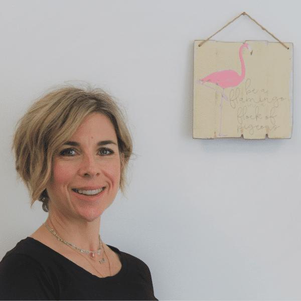 Nikki Butler in her skin clinic in Alton Hampshire