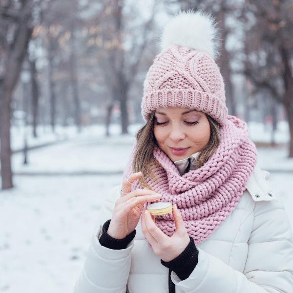 skin care tips women using lip balm